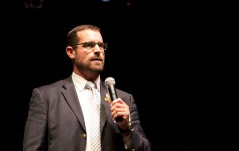 Representative Brian Sims speaks at Chatham