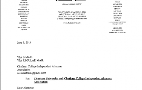 Chatham University issues cease and desist to Independent Alumni Association