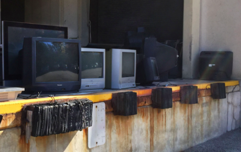 TVs in JKM library loading dock dumped by unknown people despite camera