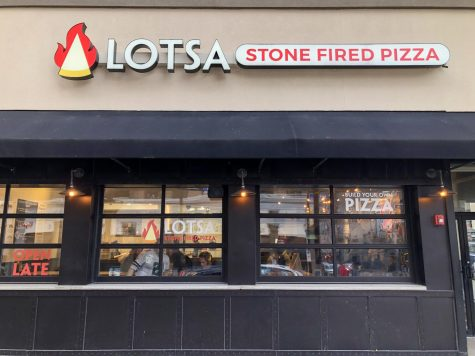 The Lotsa Stone Fired Pizza store front on Forbes Avenue in Oakland. Photos by Jesse Solomon.