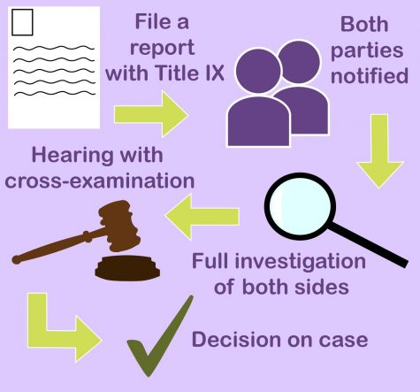The process one goes through after reporting an incident to Title IX under the new federal regulations. Credit: Alexis Taranto