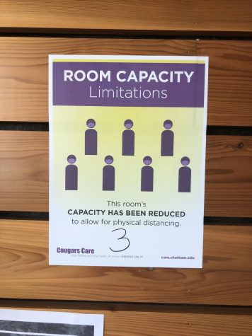 An example of a room occupancy limit that has been set by Residence Life at Orchard Hall.