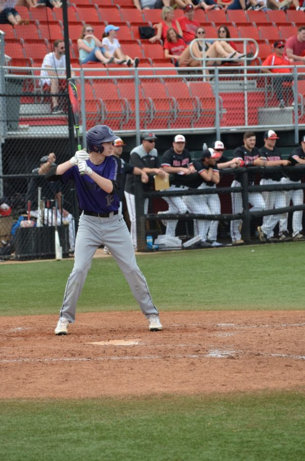 Ryan Shawley '21 plays baseball for Chatham University against conference opponent Washington and Jefferson. Photo Credit: Ryan Shawley