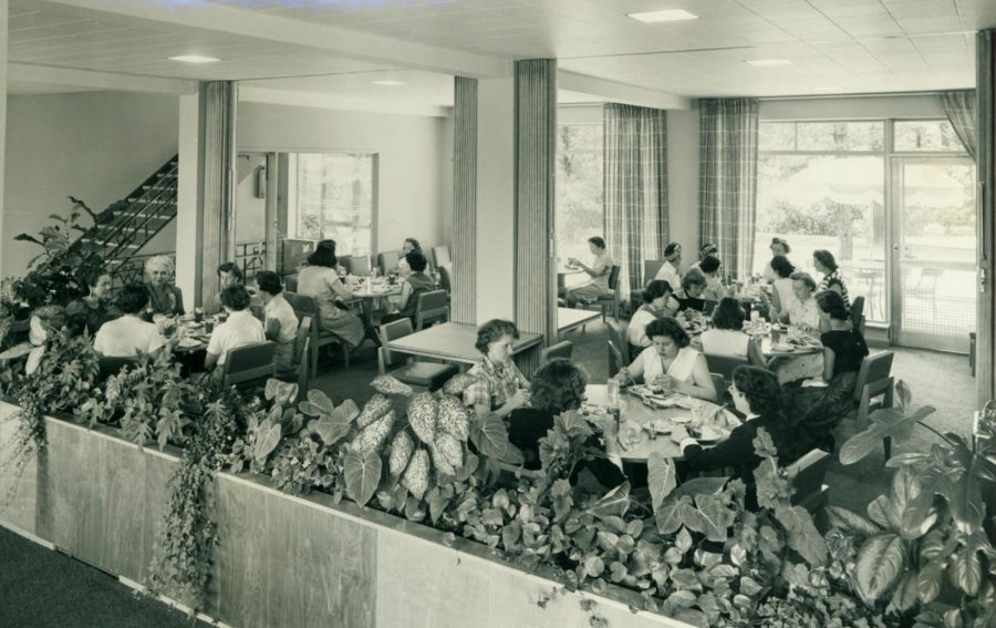 Female Heinz employees enjoying a meal within the Lodge's cafeteria in the 1960s. Photo courtesy of Chatham Archives. Original source for photo unknown