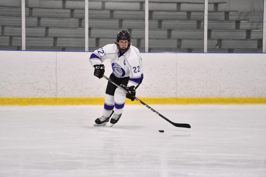 Ashley+Merchant+plays+hockey+for+Chatham+University.+Photo+Credit%3A+Chatham+Athletics