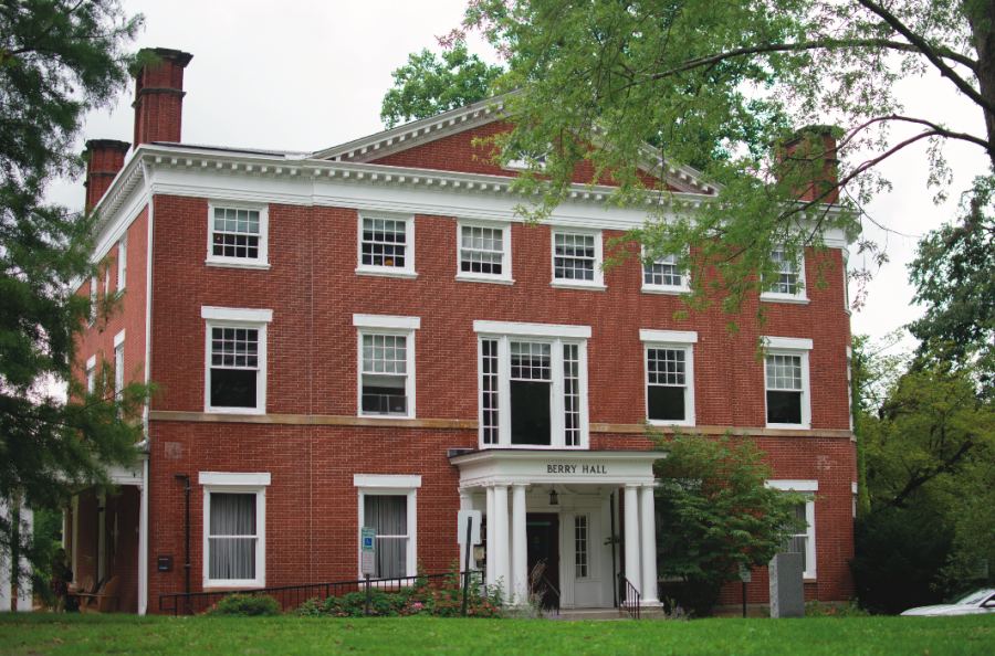 Berry Hall, where some students are employed in the Admissions Office of Chatham University. Photo Credit: Lily Kubit