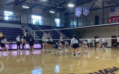The volleyball team at their home opener. Photo Credit: Chatham Cougars athletic website.